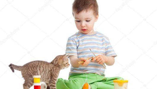 depositphotos_11802438-stockafbeelding-kid-tekening-verven-kat-kijken