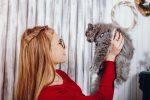 vriendin met kat