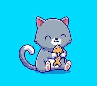 schattige-kat-bedrijf-vis-cartoon-pictogram-illustratie-animal-food-icon-concept-geisoleerd-flat-cartoon-stijl_138676-2171